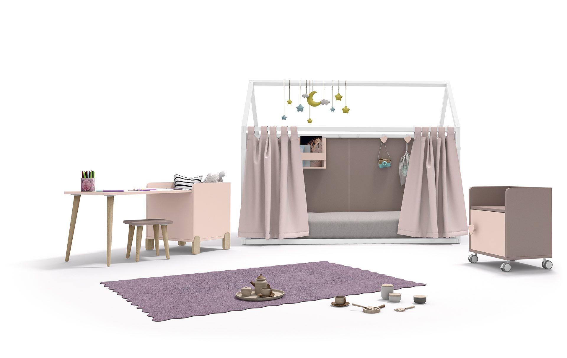 Casita è il nuovo letto gioco per bambini, modulabile di ROS