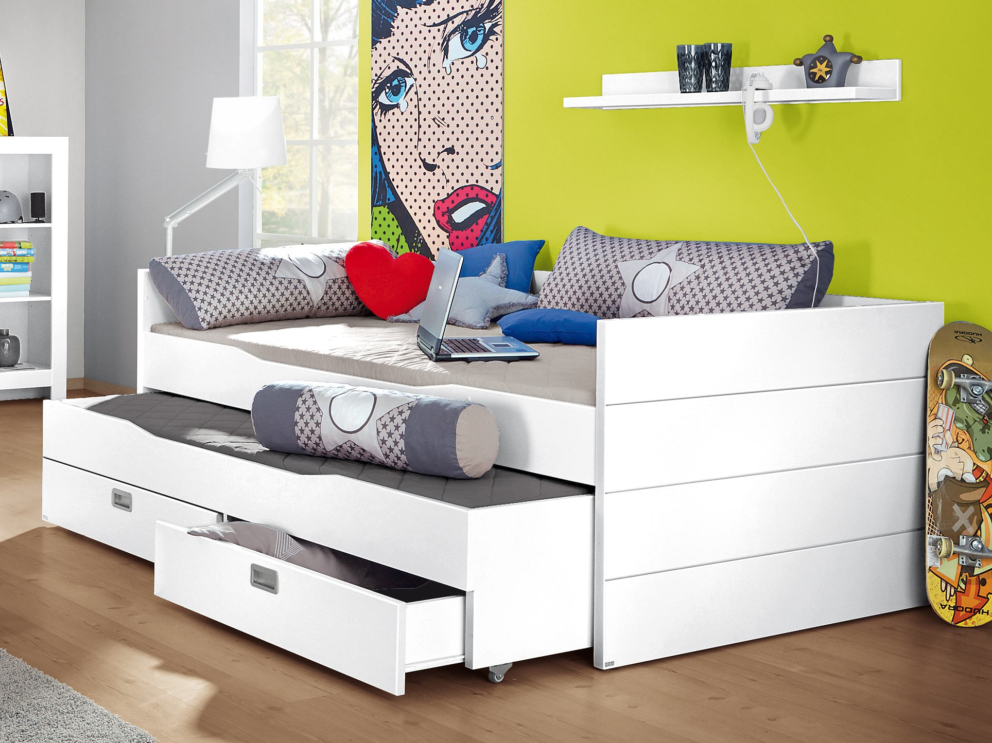 letti piazza e mezza ragazzi spaziojunior. Black Bedroom Furniture Sets. Home Design Ideas