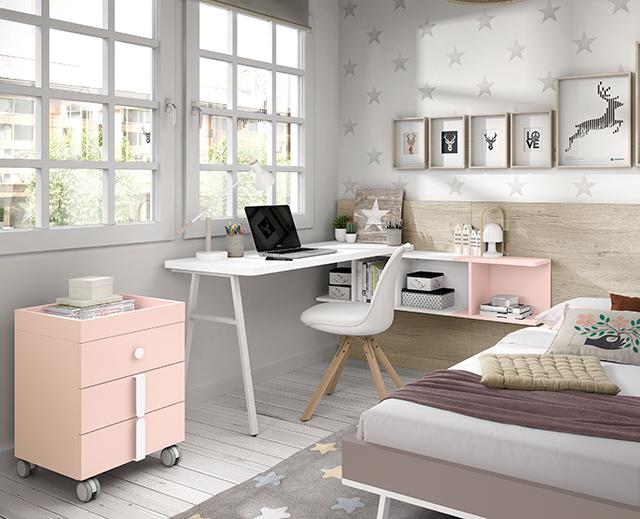 Libreria E Scrivania Per Studio.Scrivanie E Librerie Per Camerette Spaziojunior Arredamenti