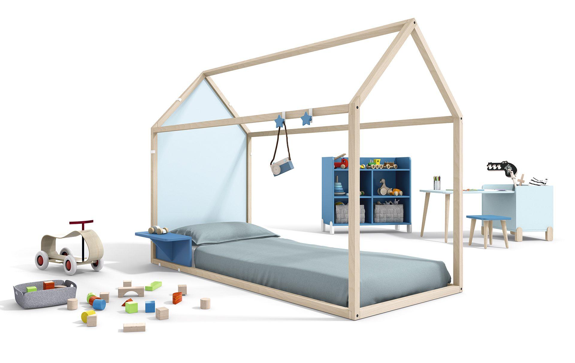 Lettino Montessori casita azzurro