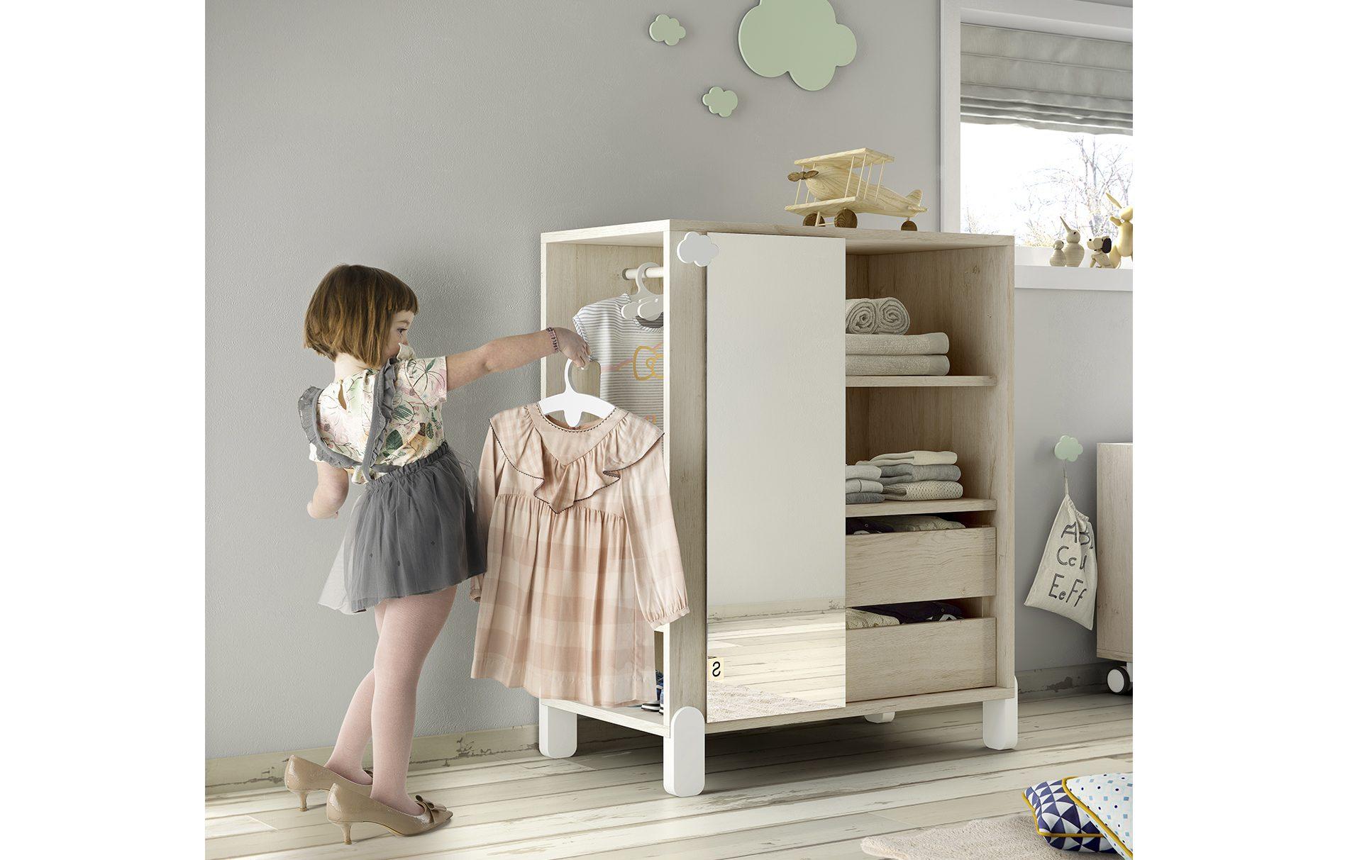 Armadio Montessori con specchio