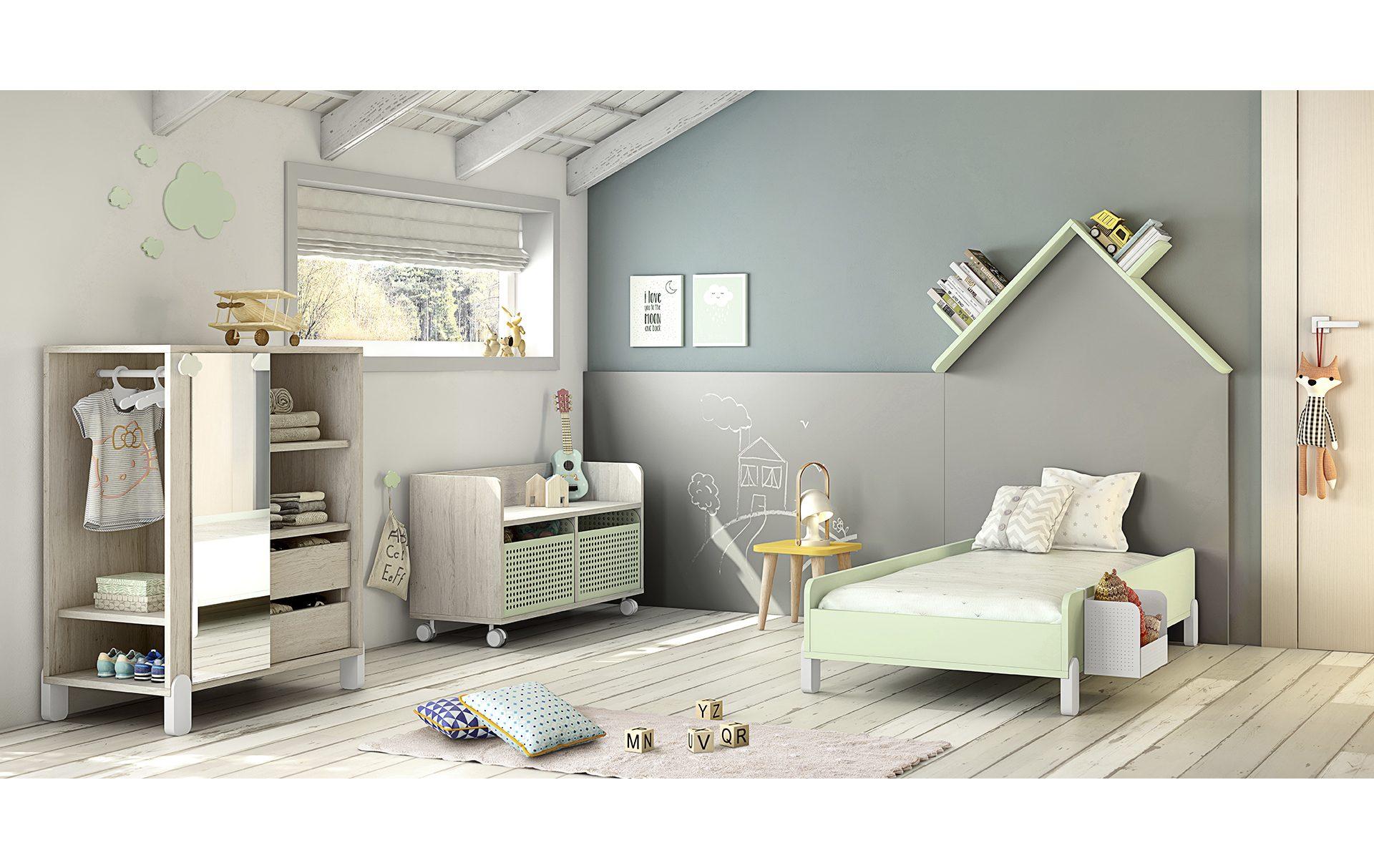 Cameretta Montessori con lavagna casita