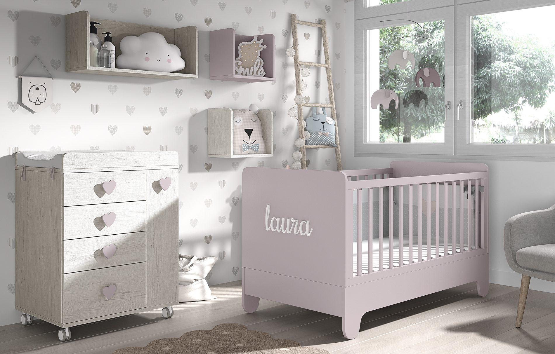Lettino per neonati trasformabile e personalizzabile col nome